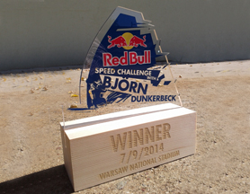 Red Bull Speed Challenge with Björn Dunkerbeck – Trophy design